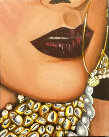 Glamour. Acrylic on 8 X 10 inch canvas 2016. Sold.
