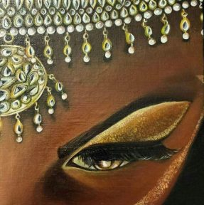 Gold. Acrylic on 8 X 10 inch canvas.
