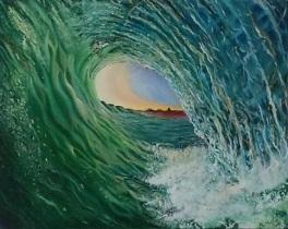 Jade. Oil on 16 X 20 canvas 2016.