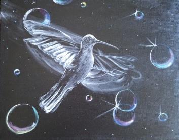 Tiny Miracle. Acrylic on 10 X 14 canvas.